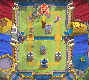 "Das neue Strategiespiel von Supercell bietet jede Menge Action (Screenshot: ""Clash Royale""-Trailer von Supercell)"