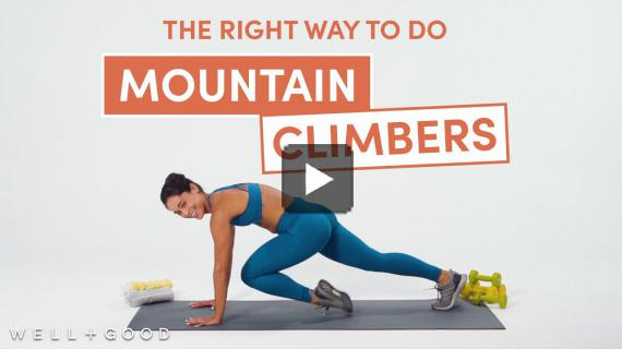 How to Do Mountain Climbers | The Right Way | Well+Good