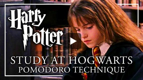 STUDY AT HOGWARTS - Pomodoro   ASMR + Music Breaks   Study with me Harry Potter Peaceful Relaxing