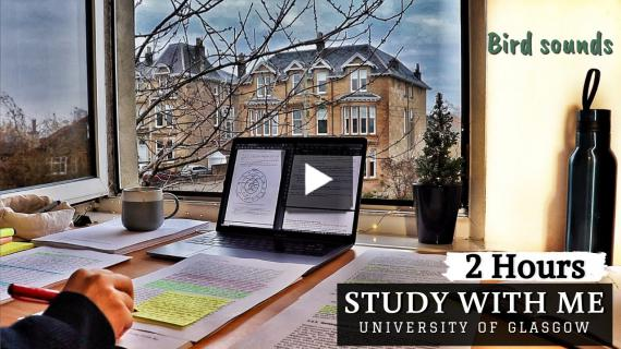 2 HOUR STUDY WITH ME | Background noise, Bird Sounds, Typing Sounds, 10-min break, No Music