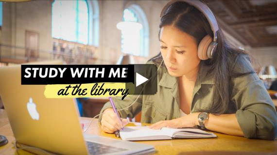 Study With Me at the Library! | A Real Time Study Session
